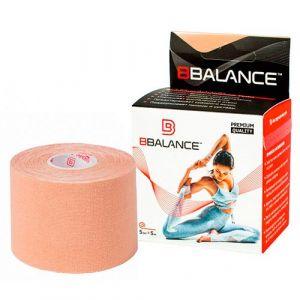 Кинезио тейп для тела бежевый BBalance Kinesio tape 1 рулон (5см*5м)