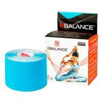 Кинезио тейп для тела голубой из хлопка BBalance Kinesio tape 1 рулон (5см*5м)