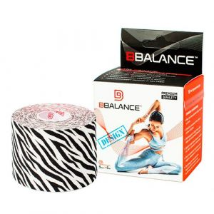 Кинезио тейп для тела из хлопка c дизайном BBalance Kinesio tape Zebra 1 рулон (5см*5м)
