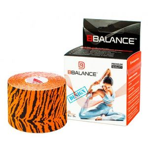Кинезио тейп для тела из хлопка c дизайном BBalance Kinesio tape Tiger 1 рулон (5см*5м)