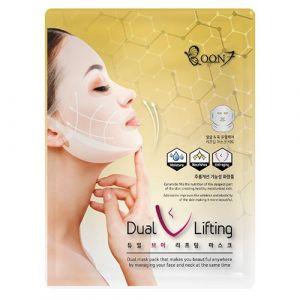 Антивозрастная маска для укрепления овала лица Boon7 Dual V Lifting Mask 27 г