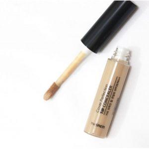 Консилер для маскировки недостатков кожи, светло бежевый The Saem Cover Perfection Tip Concealer 01 Clear Beige 6,5г.
