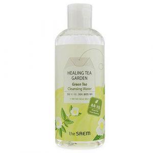 Вода для снятия макияжа с маслом зеленого чая The Saem Healing Tea Garden Tea Tree Cleansing Water 300 мл