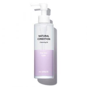 Гидрофильное масло с абрикосовым маслом The Saem Natural Condition Cleansing Oil Deep Clean 180 мл