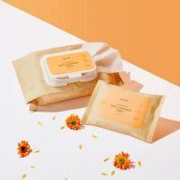 Салфетки очищающие с экстрактом календулы The Saem Garden Pleasure Calendula Cleansing Tissue 100шт