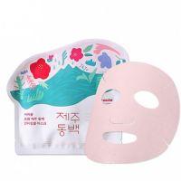 Антивозрастная тканевая маска с экстрактом камелии Ciracle From Jeju Camellia Flower Anti-Wrinkle Mask Pack 21г