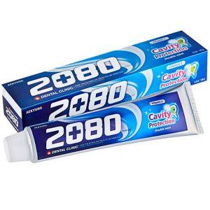 Зубная паста натуральная мята Dental Clinic 2080 Cavity Protection Double Mint 120 г