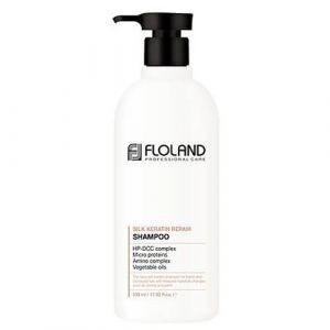 Восстанавливающий шампунь с кератином Floland Premium Silk Keratin Shampoo 530 мл
