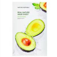 Маска для лица с экстрактом авокадо Nature Republic real nature mask sheet - avocado 23 г