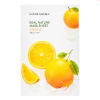 Маска для лица c эссенцией на основе апельсинового масла Nature Republic real nature mask sheet - orange 23 г