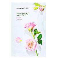 Маска для лица с экстрактом розы Nature Republic real nature mask sheet - rose 23 г