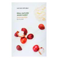Маска для лица с маслом ши Nature Republic real nature mask sheet - shea butter 23г