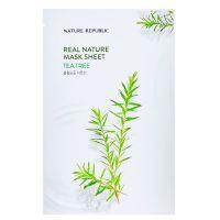 Маска для лица с маслом чайного дерева Nature Republic real nature tea tree mask sheet 23 г
