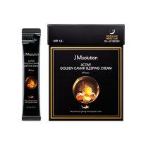 Ночной крем с золотом и икрой JM Solution Active golden caviar sleeping cream 30х4 мл