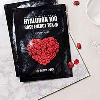 Тканевая маска-детокс с розой и пептидами MEDI-PEEL Hyaluron 100 Rose Energy Tox 25 г