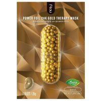 Фольгированная тканевая маска для упругости кожи Nohj Power Foil 24k Gold Therapy Mask 28г
