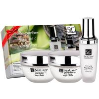 Антивозрастной набор (кремы дневной, ночной и сыворотка для лица) SeaCare Moisturizing Day Cream - for all skin types 50мл х 3