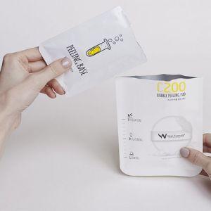 Пилинг-пэд для выравнивания тона проблемной кожи (для лица) Wish Formula C200 Bubble Peeling Pad 15 мл