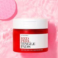 Кислотные пэды с тингл-эффектом So Natural Red Peel Tingle Pad 50шт
