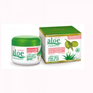 Купить ALOE TREASURES Крем для лица с гиалуроновой кислотой против морщин ALOE TREASURES 50 мл