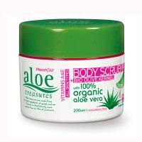 Aloe Treasures Гель скраб для тела с косточкой оливы Aloe Treasures 200 мл